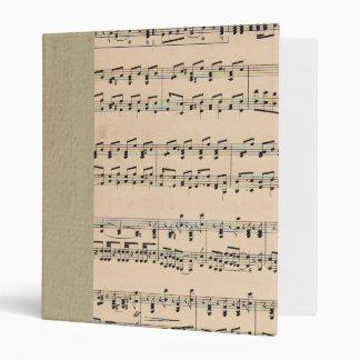 Vintage Sheet Music Score Black and White notes 3 Ring Binder
