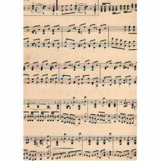 Vintage Sheet Music Score Black and White notes Statuette