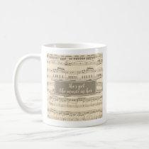Vintage Sheet Music She's Got the Music In Her Mug