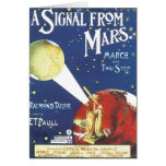 Vintage Sheet Music Signal From Mars Card