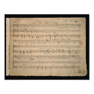 Vintage Sheet Music, Song of the Old Man, 1822 4.25x5.5 Paper Invitation Card