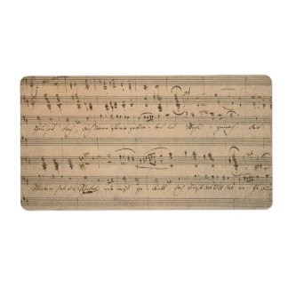 Vintage Sheet Music, Song of the Old Man, 1822 Label