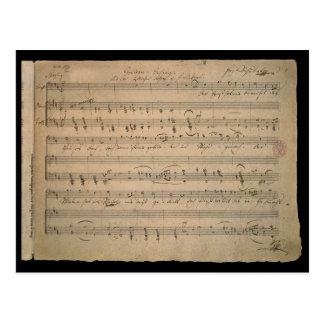 Vintage Sheet Music, Song of the Old Man, 1822 Postcard