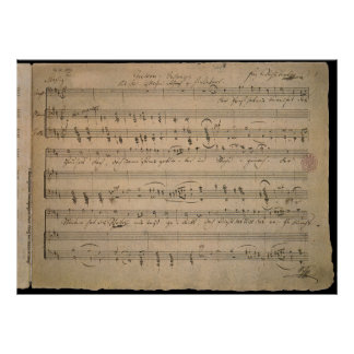 Vintage Sheet Music, Song of the Old Man, 1822 Poster