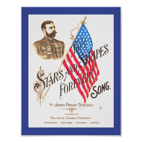 Vintage Sheet Music Stars and Stripes Forever copy