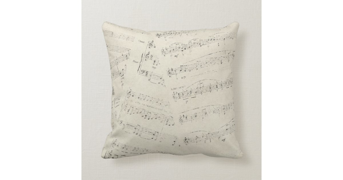 No Throw Pillows On The Bed Song : Vintage Sheet Music Throw Pillow Zazzle