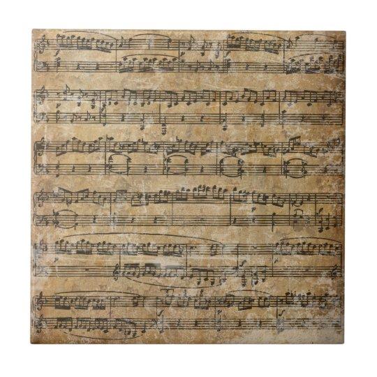 Vintage Sheet Music Tile