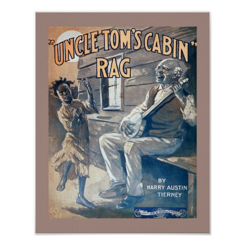 Vintage Sheet Music Uncle Tom's Cabin Rag copy