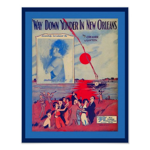 Vintage Sheet Music Way Down Yonder in New Orleans