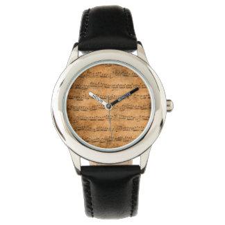 Vintage sheet music wristwatch