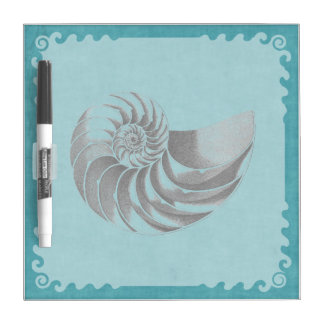 Vintage Shell Blue Dry Erase Board