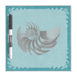 Vintage Shell Blue Dry Erase Whiteboards