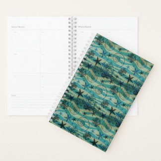 Vintage Shells And Starfish Pattern Planner