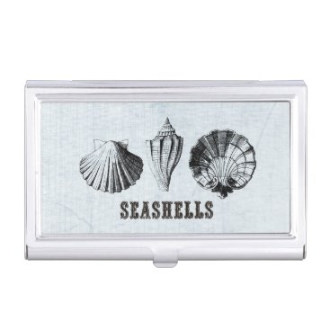 Professional Business Vintage Shells Trio Business Card Holder