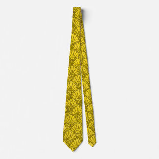 Vintage Shells Yellow Tie