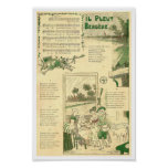Vintage shepherdess French song Il pleut Bergere Poster