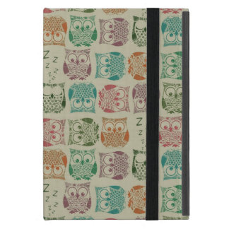 Vintage Sherbet Owls Case For iPad Mini