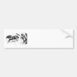 Vintage Shetland Ponies - 1800's Horse and Pony Bumper Sticker