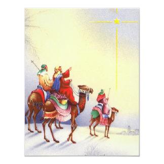 Vintage Shining Star of Bethlehem Flat Card