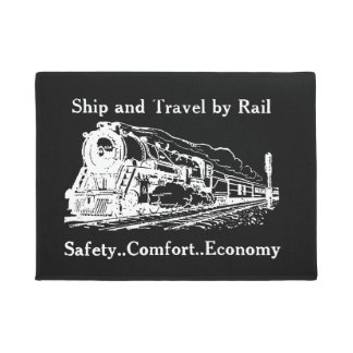 Vintage Ship and Travel By Rail Doormat