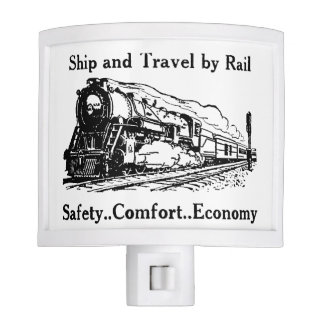 Vintage Ship and Travel By Rail Night Light