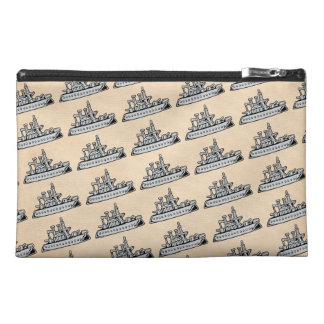 Vintage Ship Travel Accessory Bags