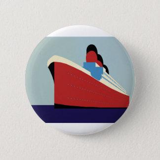 Vintage Ship Button