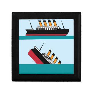 Vintage ship gift box