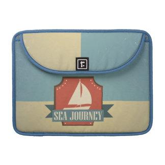 Vintage Ship Image. Sea Journey Message MacBook Pro Sleeves
