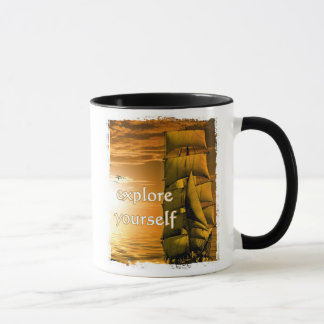 vintage ship inspirational motivational quote mug