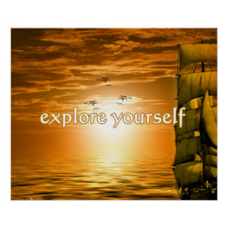 vintage ship inspirational motivational quote poster