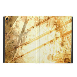 Vintage Ship Ocean Amber Earth Tone Caramel iPad Air Covers