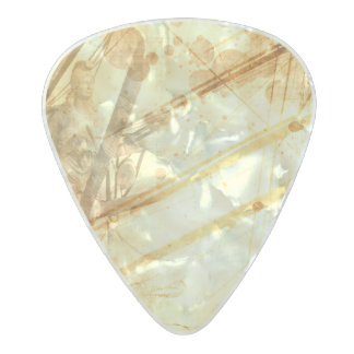 Vintage Ship Ocean Amber Earth Tone Caramel Pearl Celluloid Guitar Pick