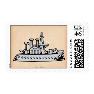 Vintage Ship Postage