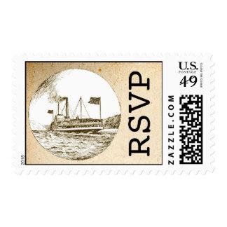 vintage ship rsvp stamps
