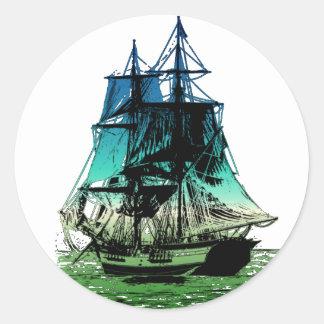 Vintage Ship Sticker