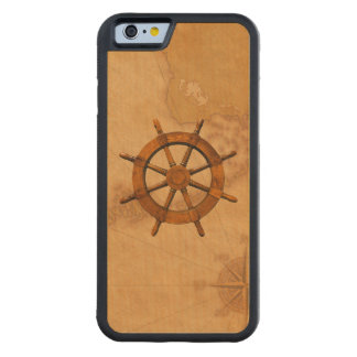Vintage Ship Wheel Carved® Maple iPhone 6 Bumper Case
