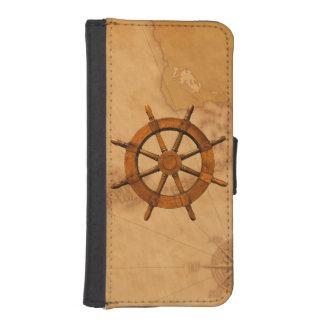 Vintage Ship Wheel iPhone 5 Wallets