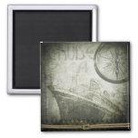 Vintage Ship Wind Rose Art 2 Inch Square Magnet