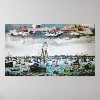 Vintage Ships Amsterdam Sail Poster Print