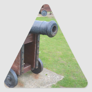 Vintage Ship's Cannon Triangle Sticker