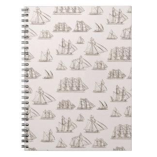 Vintage Ships Notebook