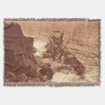 Vintage Shipwreck - Sailing Ship Antique Photo Throw Blanket