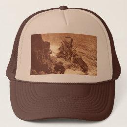 Vintage Shipwreck - Sailing Ship Antique Photo Trucker Hat