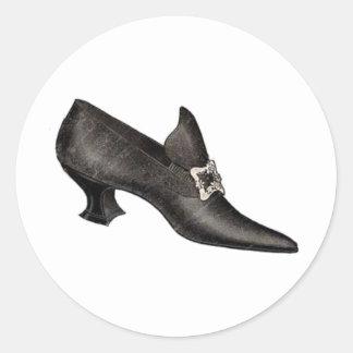 Vintage Shoe 2 Round Sticker