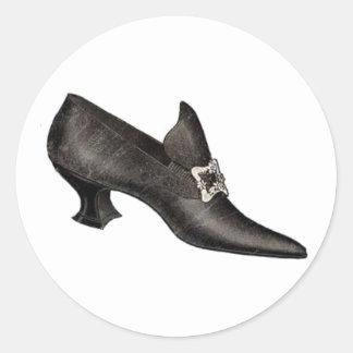Vintage Shoe 2 Round Stickers