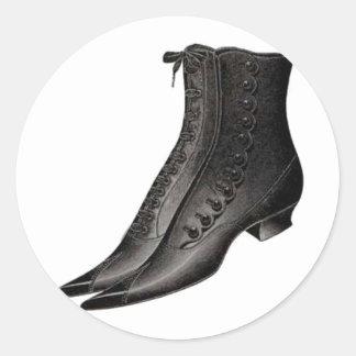 Vintage Shoe 3 Round Sticker