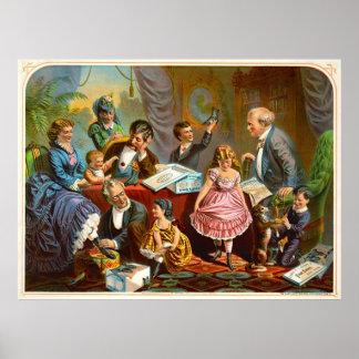 Vintage Shoe Ad 1874 Poster
