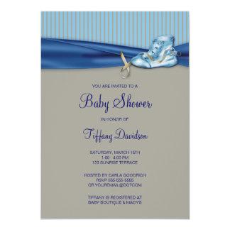 Vintage Shoe Baby Boy Shower Card