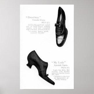 Vintage Shoe Catalog Page Poster